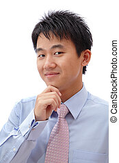 Young Business man confident smile face