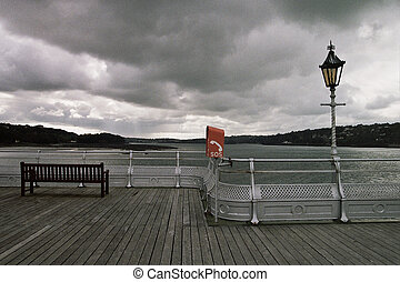 View point. - A view point with bench, railings, light post...