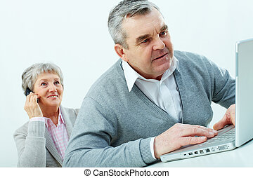 Modern technologies - Senior people being comfortable with...