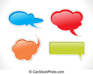 abstract chat balloon icons - abstract chat balloon icon...
