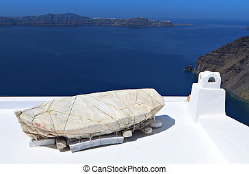 Santorini island in Greece - Traditional architectural style...