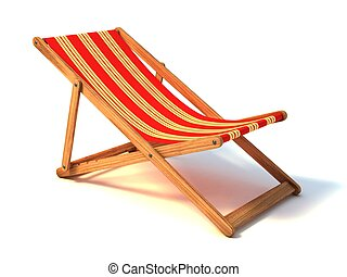 beach chair isolated 3d illustration