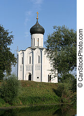 Church of Intercession on Nerl - XII century Russian...