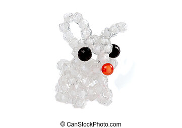 a craft beaded crystal of rabbit