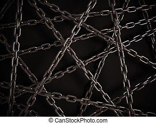 chains on the dark background
