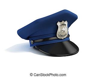 police hat 3d illustration