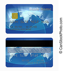 credit card front and back side