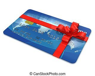 credit card as present 3d illustration
