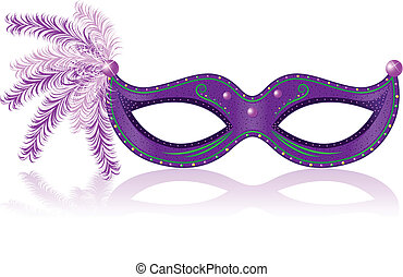 Carnival Mask - Illustration of purple carnival mask