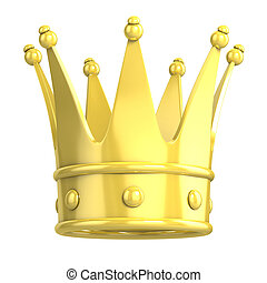 golden crown 3d illustration