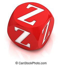 dice font letter Z 3d illustration - dice font letter Z