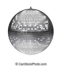 disco ball isolated on white 3d illustration