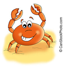 crab - colored illustration of a crab