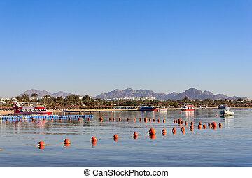 Naama Bay in Sharm El Sheikh, Egypt
