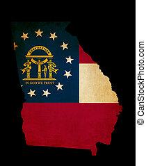USA American Georgia State Map