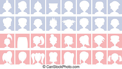Anonymous Default Avatars - Set of anonymous default...
