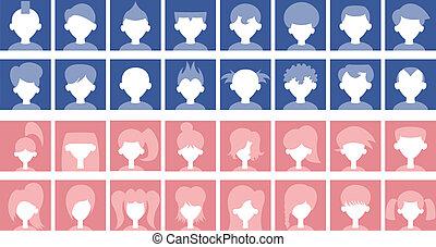 Default Avatars - Set of default avatars in some cartoon...