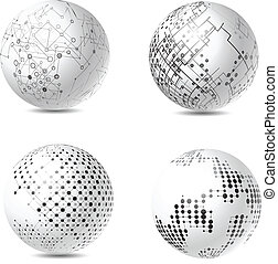 Abstract tech spheres