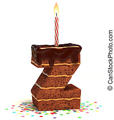 """letter """"Z"""" shaped chocolate cake - letter Z shaped chocolate..."""
