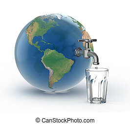 drinking water crisis - eco concept