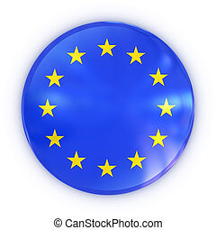 European union badge 3d illustration