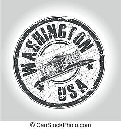 washington stamp - grunge style stamp