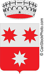 Asso city coa - Various vector flags, state symbols, emblems...