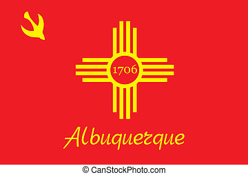 Albuquerque city flag - Various vector flags, state symbols,...