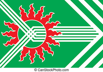 Asbest city flag - Various vector flags, state symbols,...