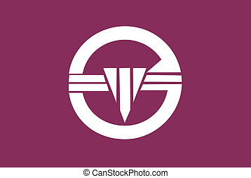 Arakawa ku flag - Various vector flags, state symbols,...