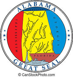 Alabama seal - Various vector flags, state symbols, emblems...