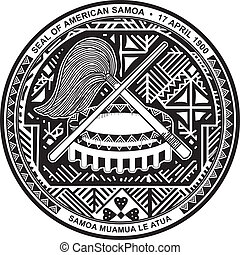 Americansamoa seal - Various vector flags, state symbols,...