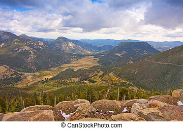 Rocky Mountain National Park - View from Trail Ridge Road in...