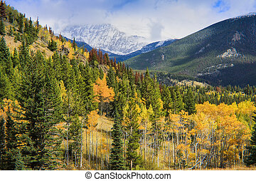 Autumn in the Mountains - Rocky Mountain National Park in...