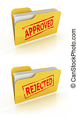 folder icon for approved / rejected
