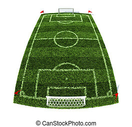 football field - 3d illustration of the football field...