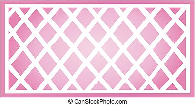 Pink Trellis - Illustration of a pink gradient trellis