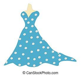 sarcelle, bleu, robe