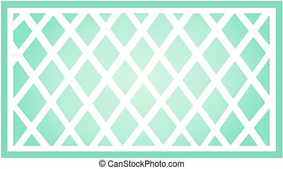 Teal Trellis - Illustration of a teal gradient trellis