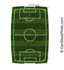 football field top view - football field top view with fish...