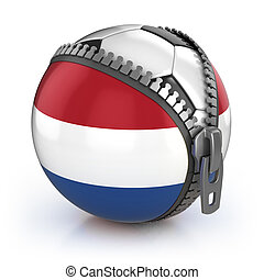 Netherlands football nation - football in the unzipped bag...