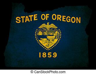 USA American Oregon State Map