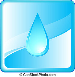 pure symbol with blue water drop