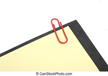 paperclip - attachment holding by  a paperclip...........