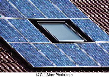 solarcell - solar cells on a roof
