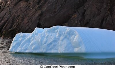 Iceberg - Small iceberg moving in the ocean.