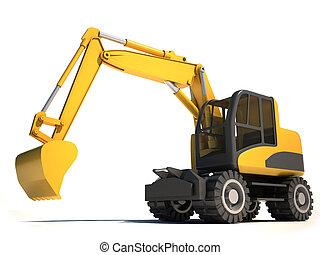 3D, excavador