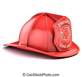 fireman helmet 3d illustration