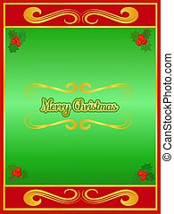 Green and Red Christmas Card