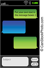 Message - Place your own text in the message boxes,...